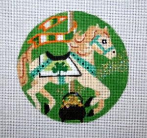 "St. Pat's Carosel Horse  4""  18 mesh"