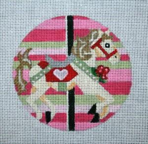 "Valentine's Carosel Horse 4""  18 mesh"