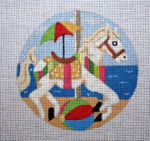 "Summer Vac. Carosel Horse  4""  18 mesh"
