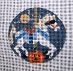 "Halloween Carosel Horse  4""  18 mesh"