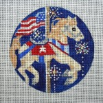 "4th of July Carosel Horse  4""  18 mesh"