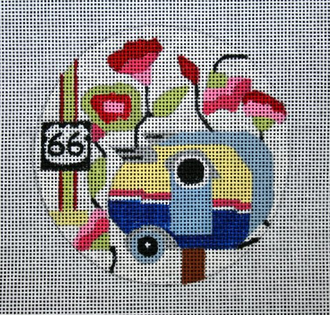 "Tiny Route 66 birdhouse 4""  18 mesh"