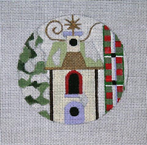 "4"" Winter Birdhouse 18 mesh"