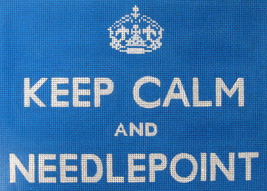 calm needlepoint blue