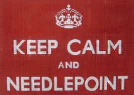 calm needlepoint red