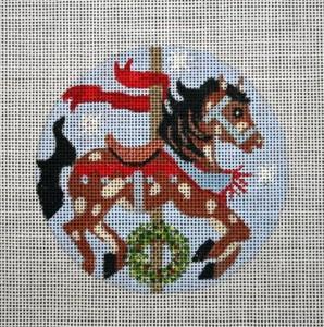 "Christmas Carosel Horse  4""  18 mesh"
