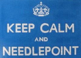 calm needlepoint blue