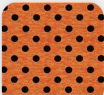 orange dot fabric