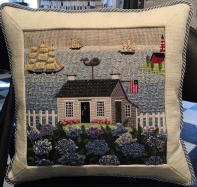 summer at the shore pillow